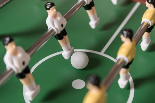 Close-up view of table football - Photo, Image