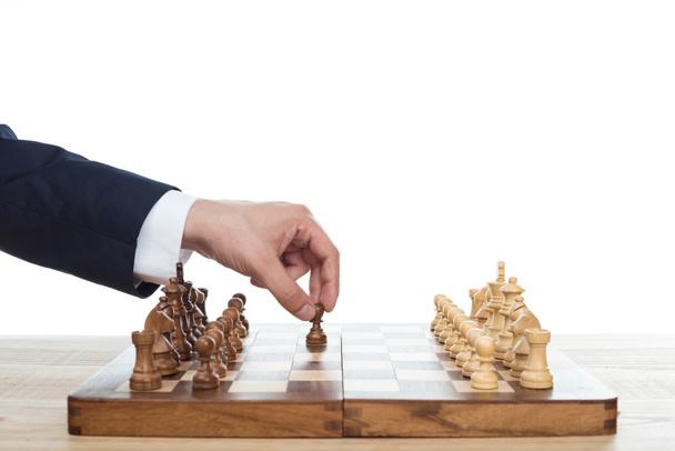 businessman playing chess - Photo, Image