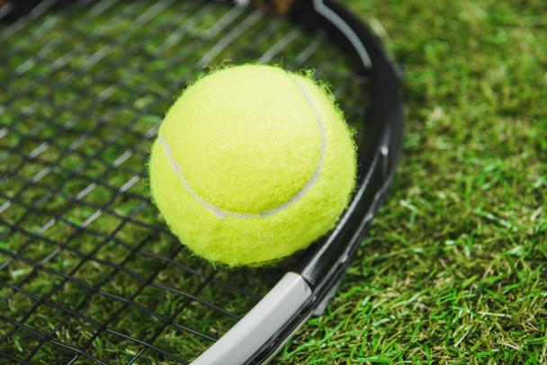 Tennis racquet and ball 3 - Photo, Image