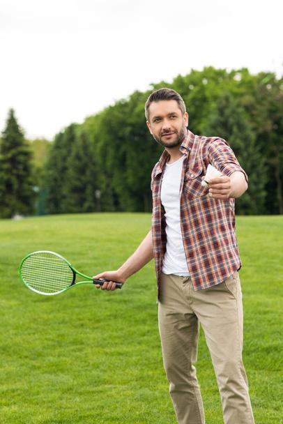 man playing badminton  - Photo, Image