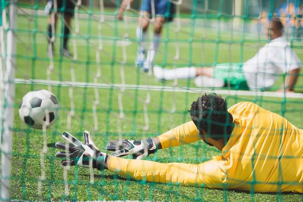 goalkeeper catching ball - Photo, Image