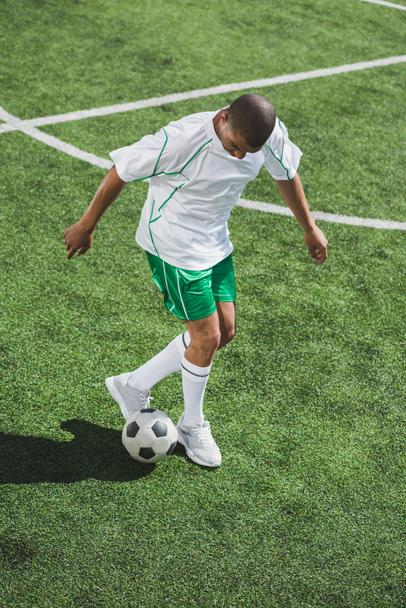 african american soccer player - Photo, Image