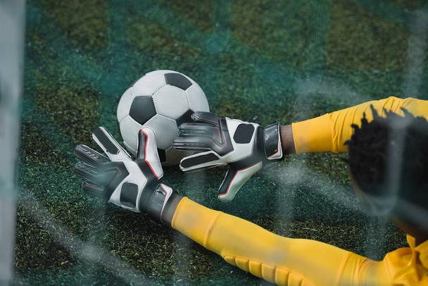 african american goalkeeper on pitch - Photo, Image