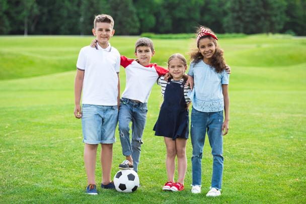 Children playing soccer - Photo, Image