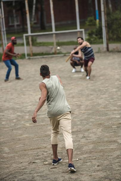 men playing baseball  - Photo, Image