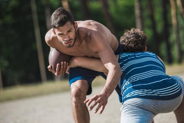 men playing football - Photo, Image
