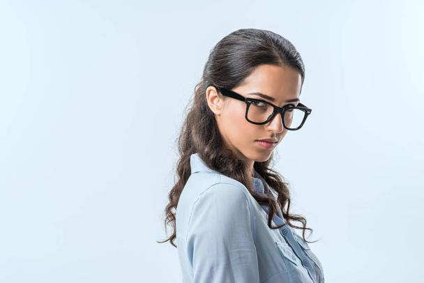 confident businesswoman in eyeglasses - Photo, Image