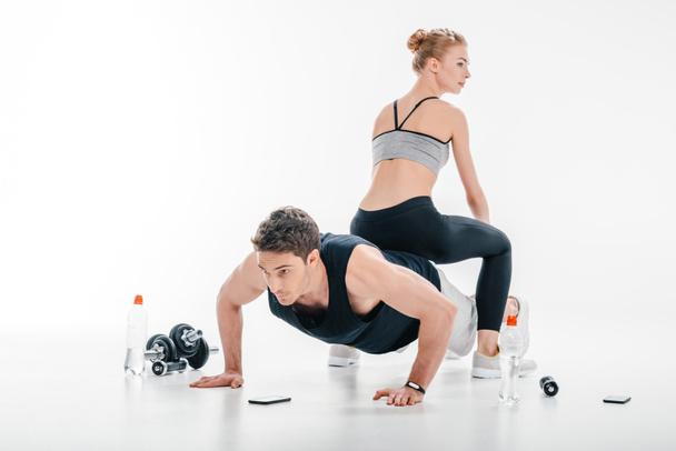 push ups - Photo, Image