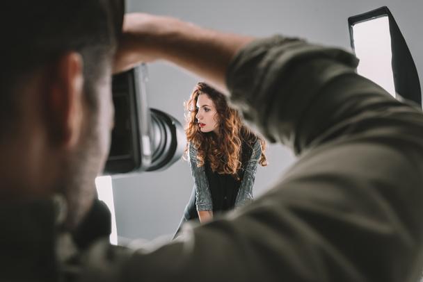 tirar fotos com modelo bonito   - Foto, Imagem