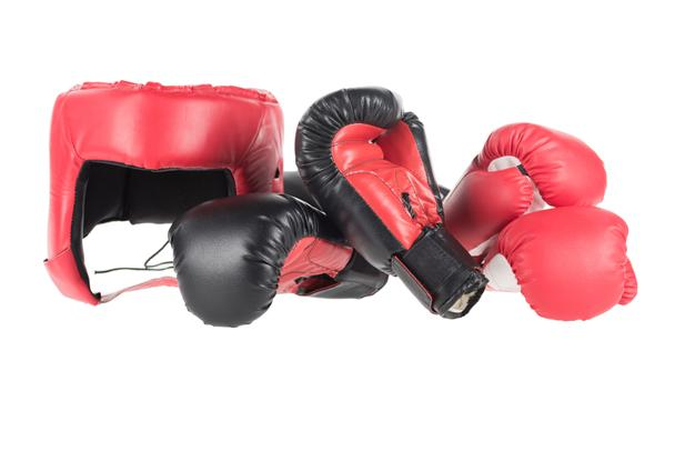 boxing gloves and headguard  - Photo, Image