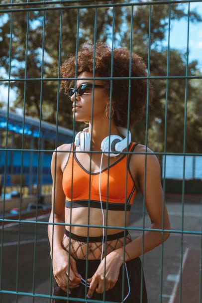 african-american woman with headphones  - Photo, Image