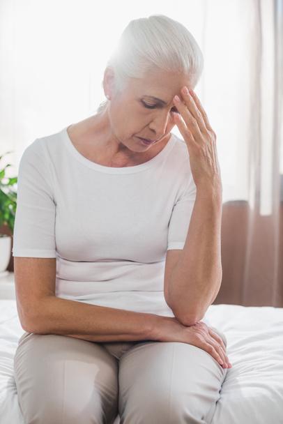 upset senior woman in hospital - Photo, Image
