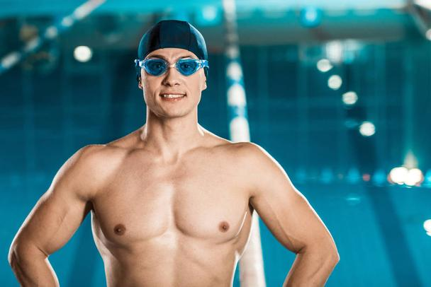 handsome muscular swimmer - Photo, Image