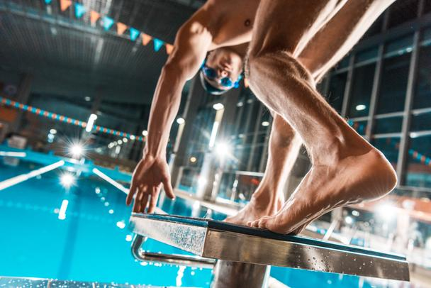 swimmer jumping into pool - Photo, Image