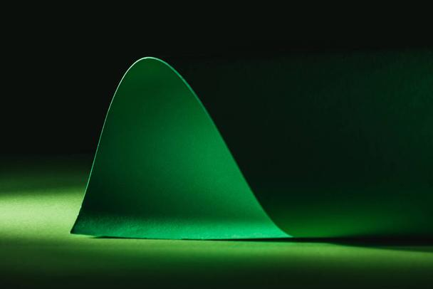 green warping paper for decoration on black  - Photo, Image