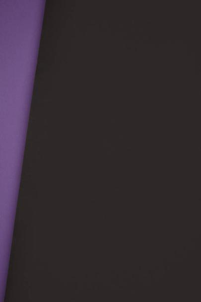 dark black and violet geometric background from colored paper - Photo, Image