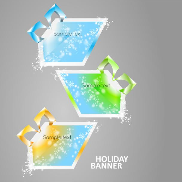 Bright multicolored glowing banners. - Vector, Image