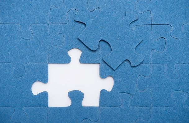 top view of one puzzle missing, business concept - Photo, Image
