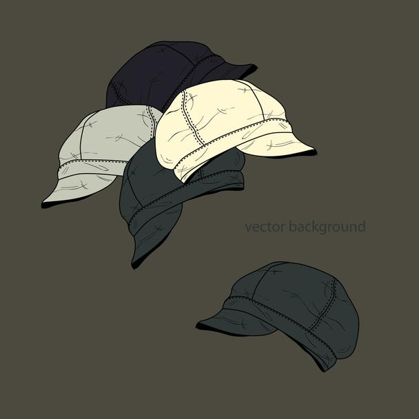 Vector background with hats. - Vector, Image