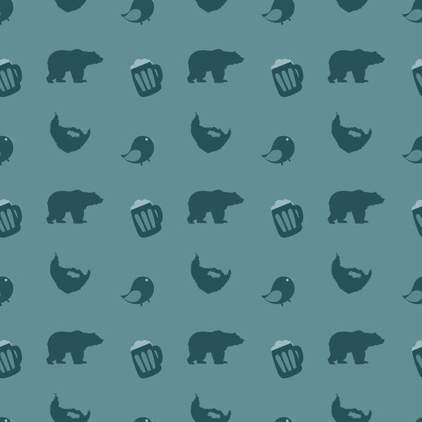 Bears and beer. Vector illustration - Vector, Image