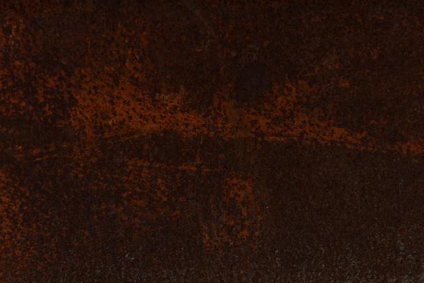dark brown aged rusty metal textured background  - Photo, Image