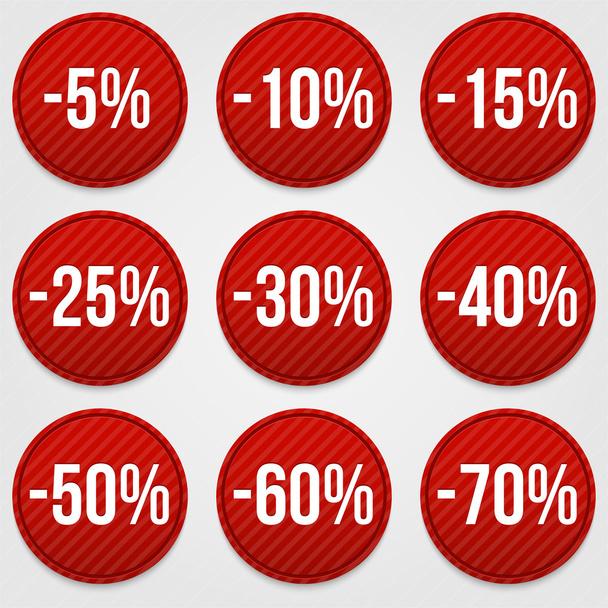 Set of discount labels - Vector, Image