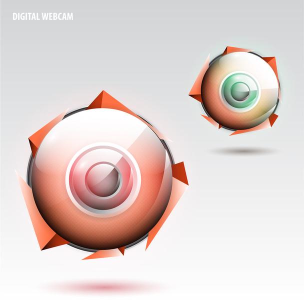 Digital webcam,  vector illustration  - Vector, Image