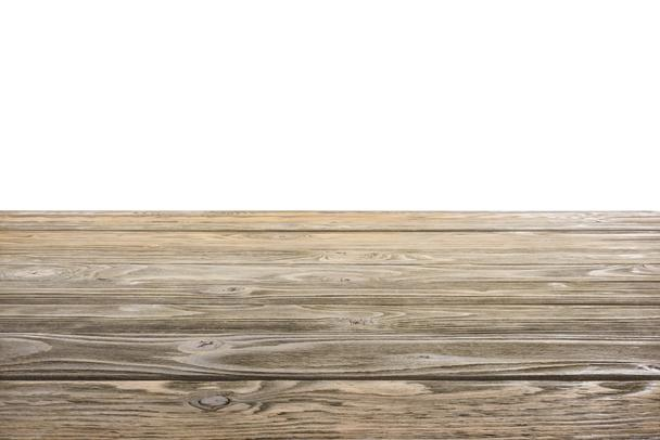 template of brown wooden floor on white background - Photo, Image
