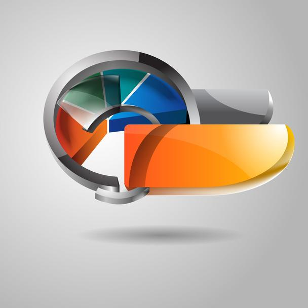 Abstract vector glossy icon - Vector, Image