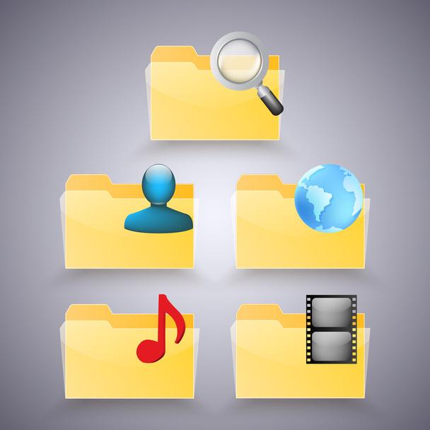 Folder icons vector illustration  - Vector, Image
