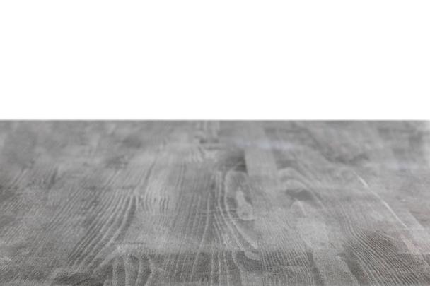 grey grungy wooden background on white - Photo, Image