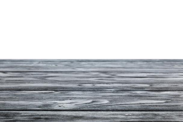 dark grey striped wooden textured background on white - Photo, Image