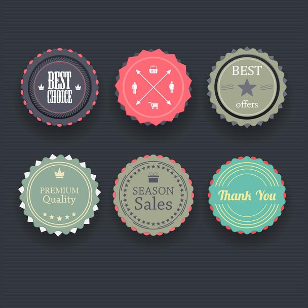 Set of retro vintage badges and labels. - Vector, Image