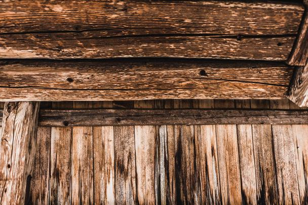brown weathered textured wooden planks - Photo, Image