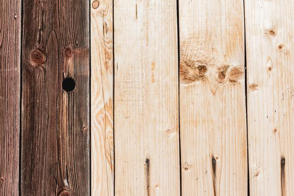 beige and dark brown textured wooden planks with copy space - Photo, Image