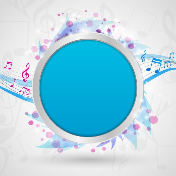 Musical notes background vector illustration - Vector, Image