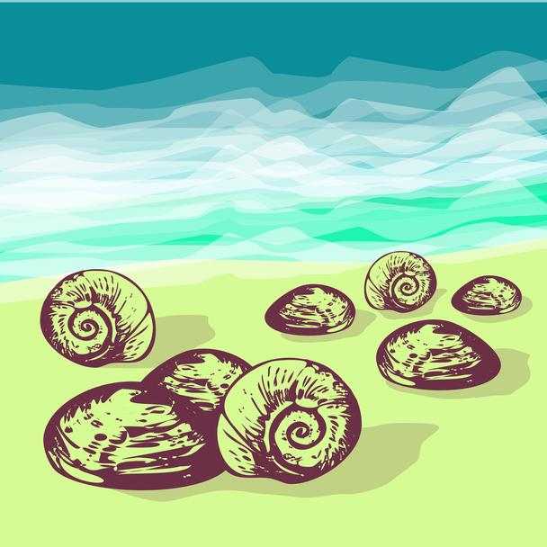 Summer holiday vector background - Vector, Image