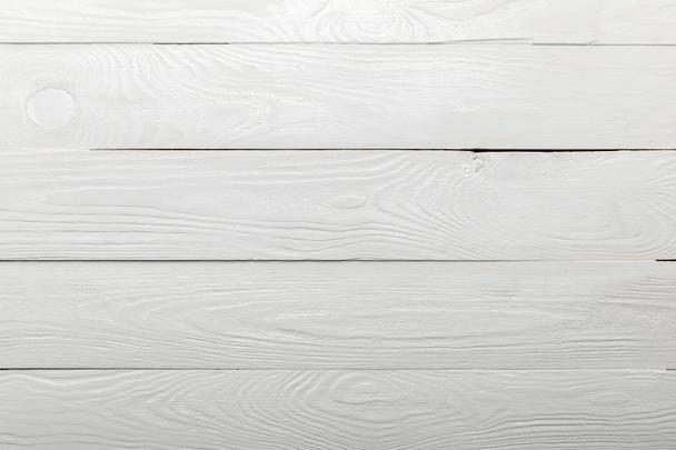 white natural textured wooden background with copy space - Photo, Image