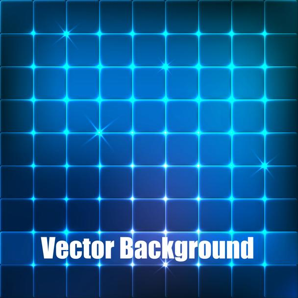 Vector background with blue squares. - Vector, Image