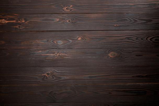 top view of brown wooden surface with copy space - Photo, Image