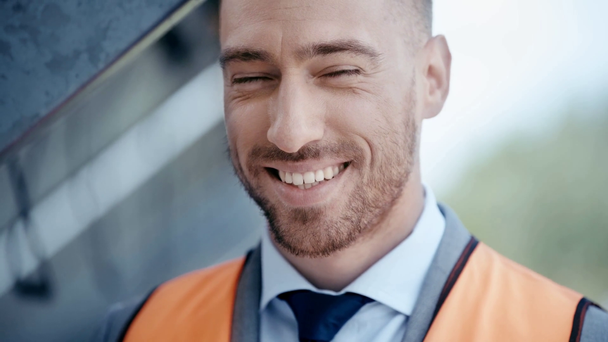 smiling businessman looking at camera  - Footage, Video