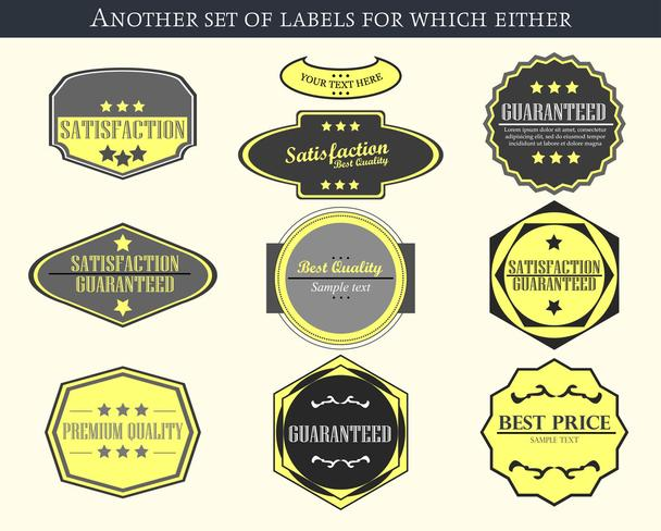 Vintage vector labels and badges - Vector, Image