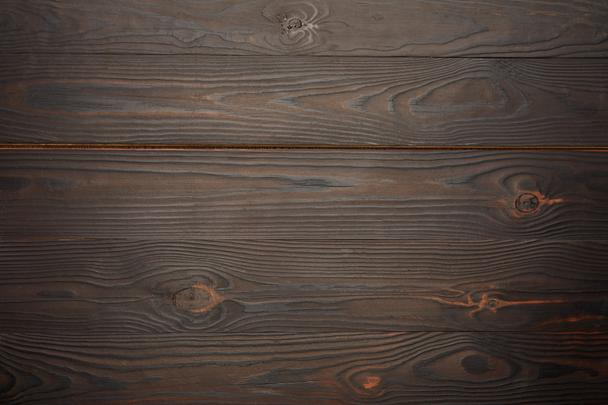 Top view of brown wooden background - Photo, Image
