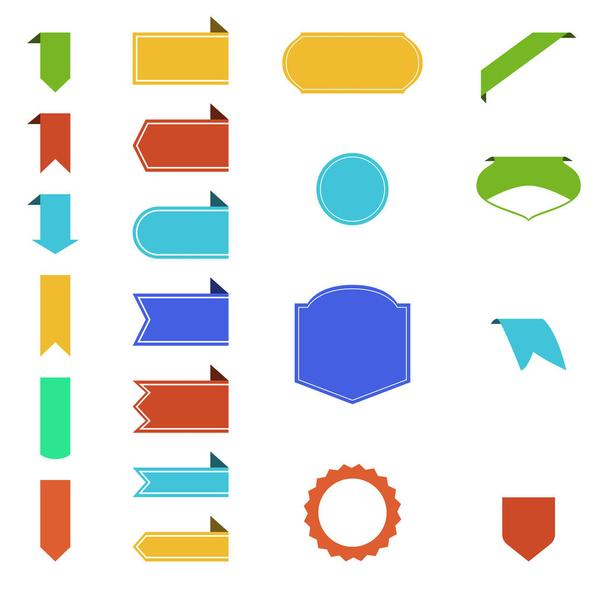 blank colorful ribbons with copy space on white background - Vector, Image