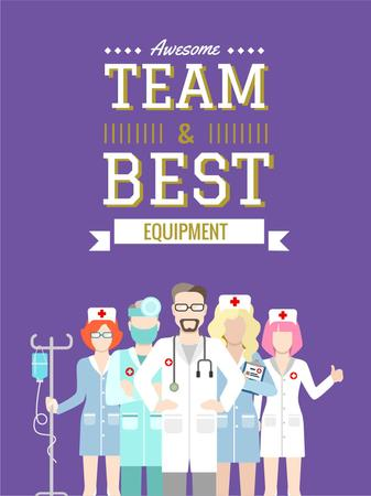 Plantilla de diseño de Professional team of medical staff Poster US