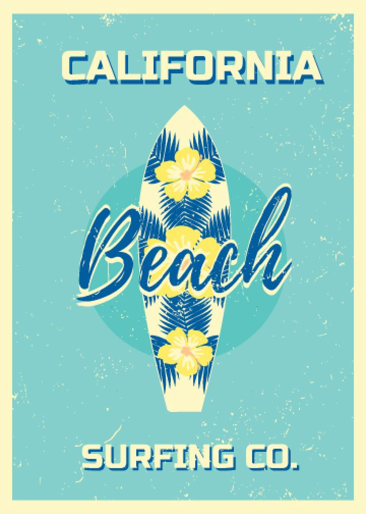 California beach surfing card — Створити дизайн
