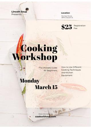 Plantilla de diseño de Cooking workshop advertisement Poster
