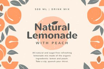 Lemonade brand ad on Peaches pattern