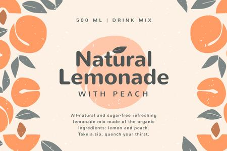 Plantilla de diseño de Lemonade brand ad on Peaches pattern Label