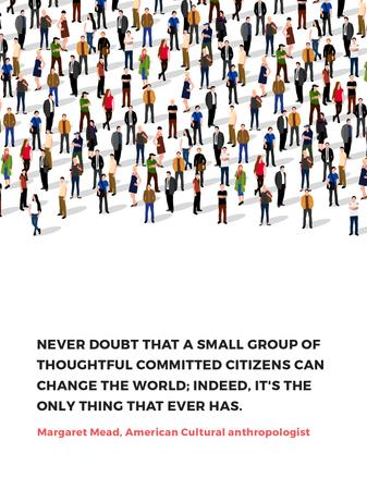 Changes inspirational quote with crowd of people Poster US – шаблон для дизайна
